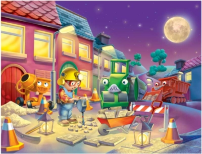 Bob the Builder: Nighttime Repairs - 100pc Glow in the Dark Jigsaw Puzzle by Ravensburger