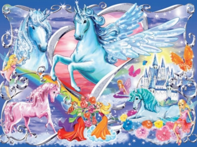Land of the Fairies Glitter Series - 100pc Jigsaw Puzzle by Ravensburger