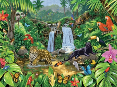 In the Jungle - 500pc Jigsaw Puzzle by Ravensburger