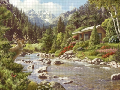 By a River - 500pc Jigsaw Puzzle by Ravensburger