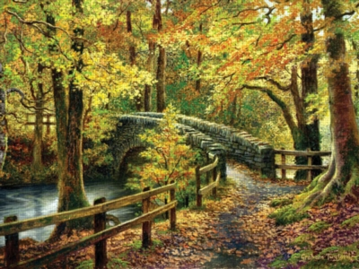 Pathway to Autumn - 500pc Large Format Jigsaw Puzzle by Ravensburger