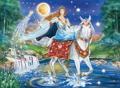 Moonlight Fairy - 500pc Jigsaw Puzzle by Ravensburger