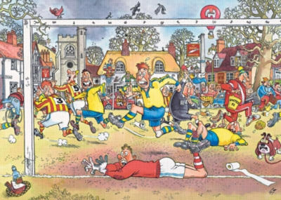 Wasgij: Soccer Madness - 1000pc Jigsaw Puzzle by Ravensburger
