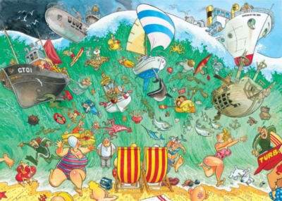 Wasgij: High Tide - 1000pc Jigsaw Puzzle by Ravensburger