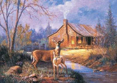 Woodland Deer - 1000pc Jigsaw Puzzle by Ravensburger