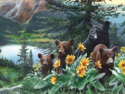 Sunflower Bears - 1000pc Jigsaw Puzzle by Ravensburger