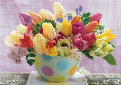 Tulip Greetings - 1000pc Jigsaw Puzzle by Ravensburger