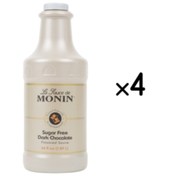 Monin Gourmet Sugar Free Dark Chocolate Sauce - 64 oz. Bottle Case