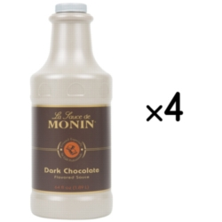Monin Gourmet Dark Chocolate Sauce - 64 oz. Bottle Case