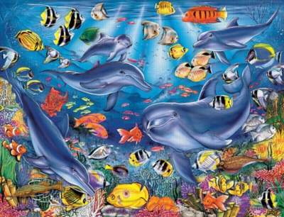 The Dolphin Zone - 2000pc Jigsaw Puzzle by Ravensburger