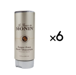 Monin Gourmet Sugar Free Dark Chocolate Sauce - 12 oz. Squeeze Bottle Case