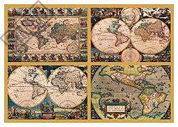 4 Historic World Maps - 18000pc Jigsaw Puzzle by Ravensburger