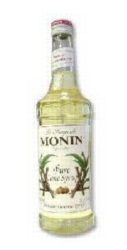 Monin Pure Cane Sugar Sweetener - 750 ml. Glass Bottle Case