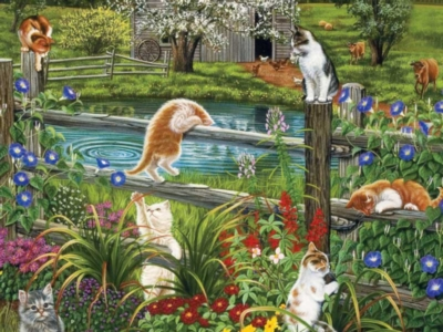 Cats At Play - 1000pc Jigsaw Puzzle by FX Schmid
