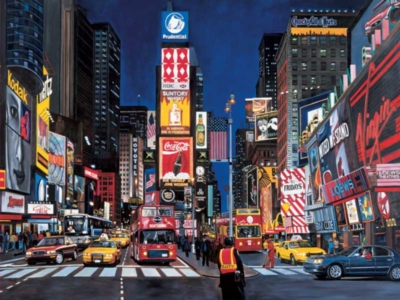 Times Square - 1000pc Glow in the Dark Jigsaw Puzzle by FX Schmid