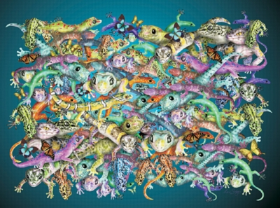 Gecko Madness - 1000pc Jigsaw Puzzle by FX Schmid