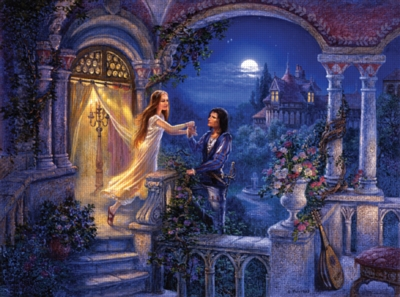 Romeo and Juliet: The Balcony - 1000pc Jigsaw Puzzle by FX Schmid