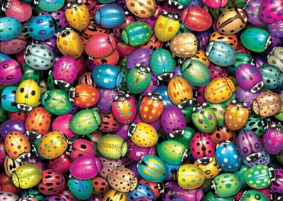 Lots O' Ladybugs - 1000pc Jigsaw Puzzle by FX Schmid