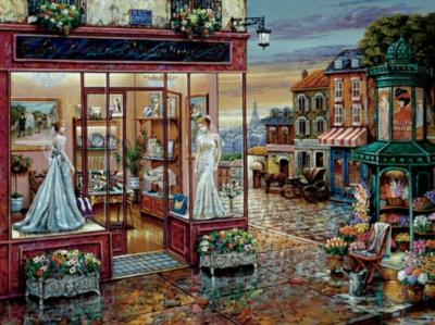 The Wedding Shop - 300pc Large Format Jigsaw Puzzle by FX Schmid
