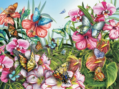 Butterfly Garden - 380pc Jigsaw Puzzle by Ravensburger
