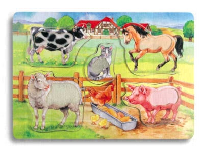 Animal Touch & See - 8pc Wooden Puzzle by Ravensburger
