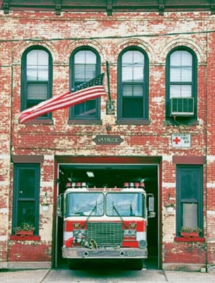 American Fire Station - 500pc Jigsaw Puzzle by Springbok
