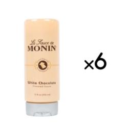 Monin Gourmet White Chocolate Sauce - 12 oz. Squeeze Bottle Case