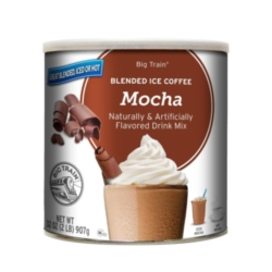 Big Train Blended Ice Coffee: Mocha - 2 lb. Can Case