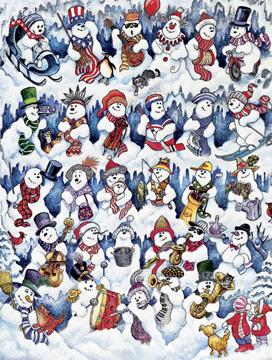 Springbok Jigsaw Puzzles - Snowfolks