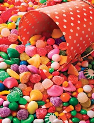 Candy Kaleidoscope - 400pc Family Style Springbok Jigsaw Puzzle