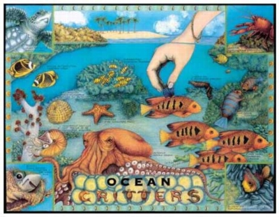 Ocean Critters - 399pc Jigsaw Puzzle by Serendipity