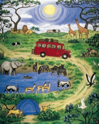 On Safari - 399pc Jigsaw Puzzle by Serendipity