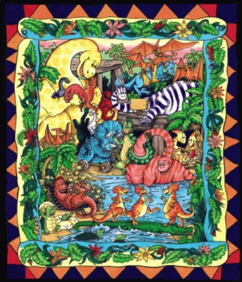 Dino Party - 399pc Jigsaw Puzzle by Serendipity