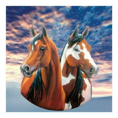 Kindred Spirits - 300pc Round Jigsaw Puzzle by Serendipity