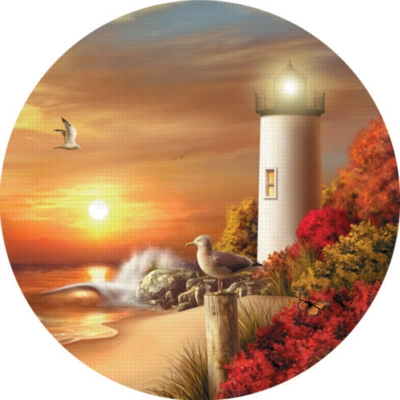 Guiding Lights - 300pc Round Large Format Jigsaw Puzzle by Serendipity