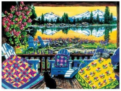 Evening Glow - 550pc Jigsaw Puzzle by Serendipity