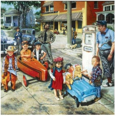 Gassing Up - 550pc Jigsaw Puzzle by Serendipity