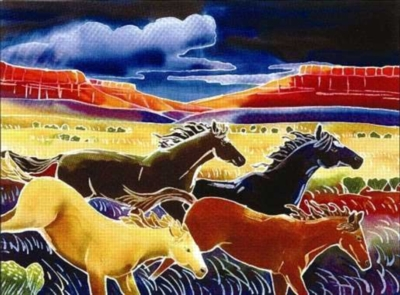 Running The Open Range - 550pc Jigsaw Puzzle by Serendipity
