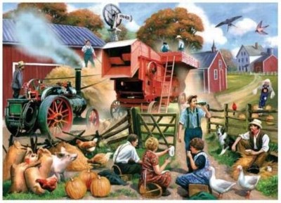 Fall Harvest - 550pc Jigsaw Puzzle by Serendipity