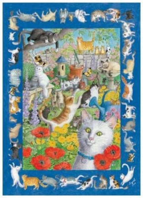57 Cats And One Very Quiet Mouse - 550pc Jigsaw Puzzle by Serendipity
