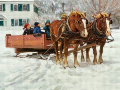 Snow In The Park - 550pc Jigsaw Puzzle by Serendipity