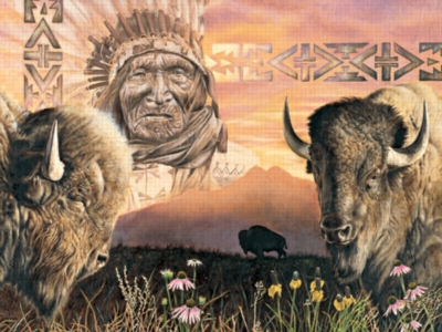 Keeper Of The Plains - 550pc Jigsaw Puzzle by Serendipity