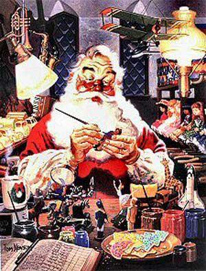 Santas Masterpiece - 1000pc Jigsaw Puzzle by Serendipity