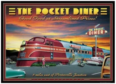 The Rocket Diner - 1000pc Jigsaw Puzzle by Serendipity