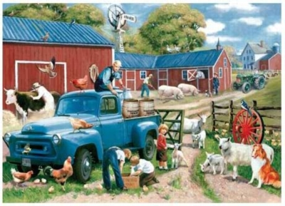 Spring Chores - 1000pc Jigsaw Puzzle by Serendipity