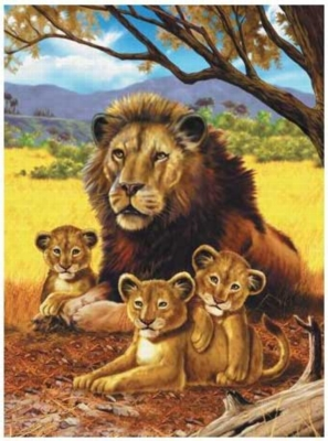 Four Kings - 1000pc Jigsaw Puzzle by Serendipity