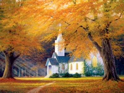 Chuch In The Glen - 1000pc Jigsaw Puzzle by Serendipity