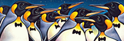 Penguin Party - 1000pc Large Format Jigsaw Puzzle by Serendipity