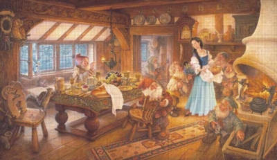 Snow White - 300pc Large Format Jigsaw Puzzle by Sunsout