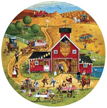 The Harvest Dance - 1000pc Jigsaw Puzzle by Sunsout